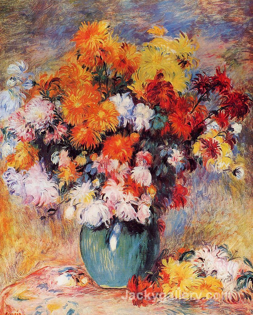 Vase of Chrysanthemums by Pierre Auguste Renoir paintings reproduction