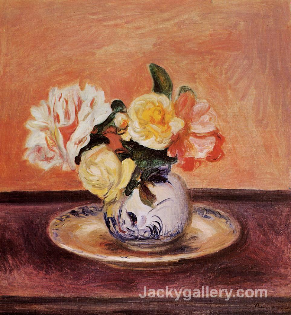 Vase of Flowers by Renoir by Pierre Auguste Renoir paintings reproduction