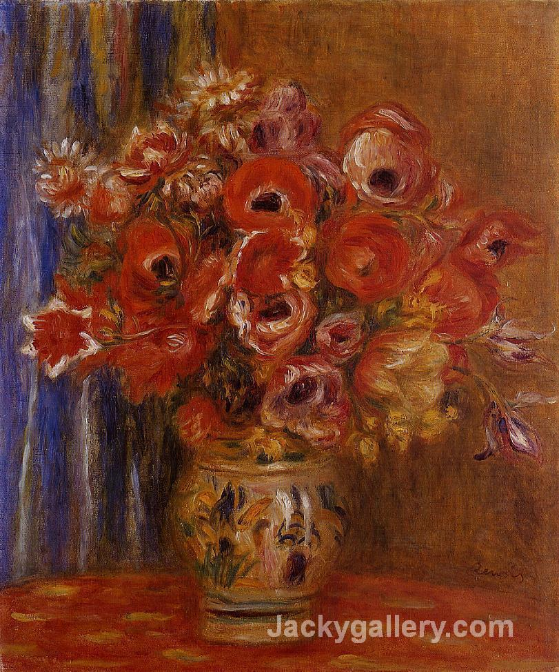 Vase of Tulips and Anemones by Pierre Auguste Renoir paintings reproduction