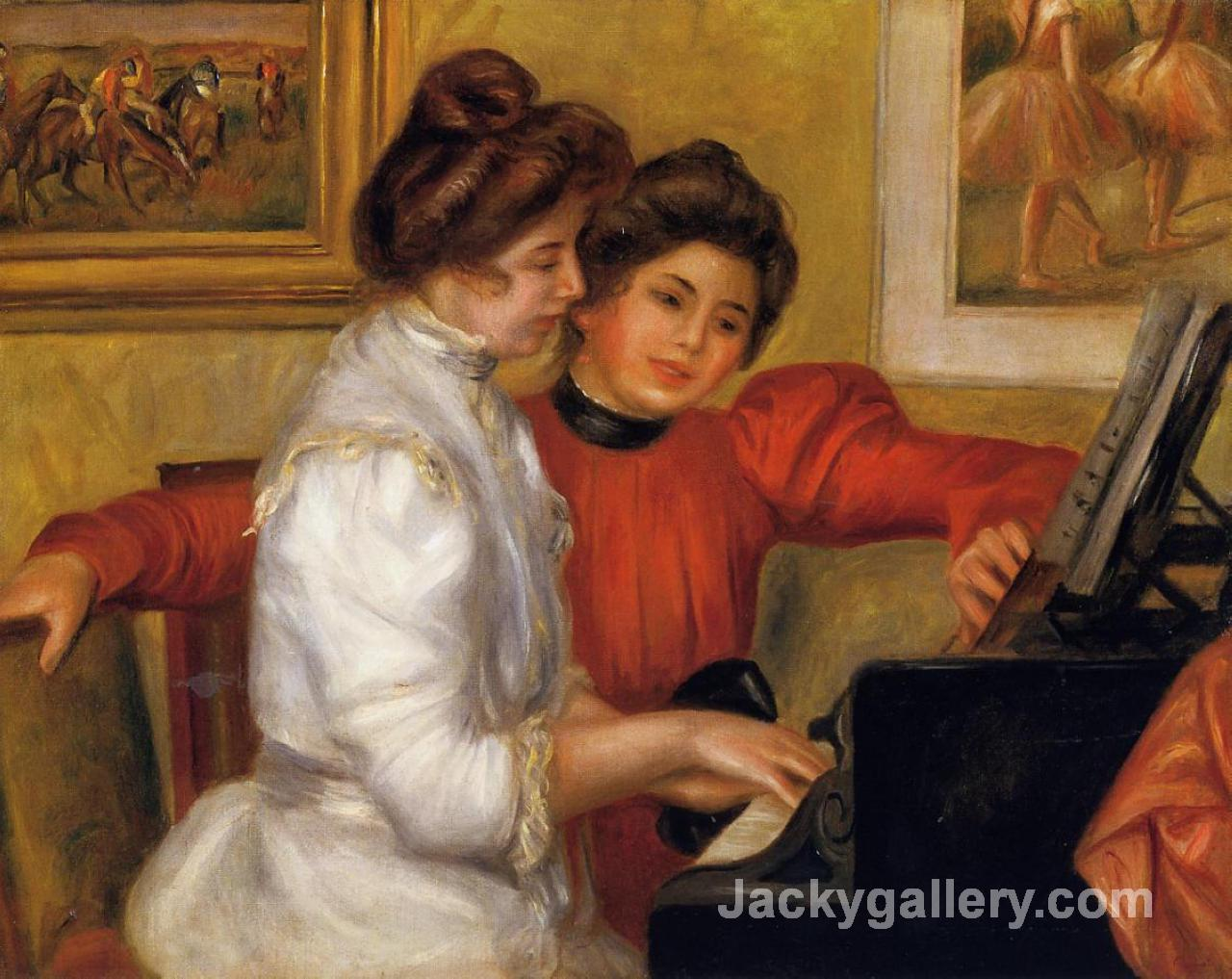 Young Girls at the Piano by Renoir by Pierre Auguste Renoir paintings reproduction