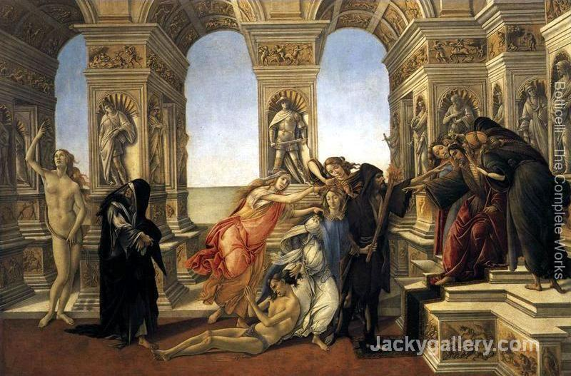 Calumny of Apelles -95 by Sandro Botticelli paintings reproduction