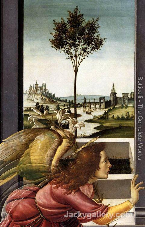 Cestello Annunciation (detail 1)-90 by Sandro Botticelli paintings reproduction