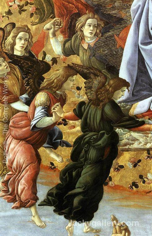 Coronation of the Virgin (detail 2) -92 by Sandro Botticelli paintings reproduction