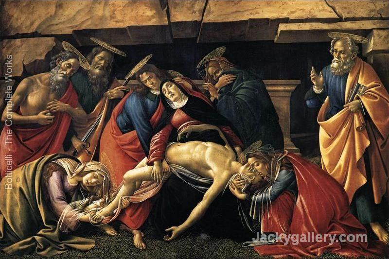 Lamentation over the Dead Christ with Saints c. by Sandro Botticelli paintings reproduction