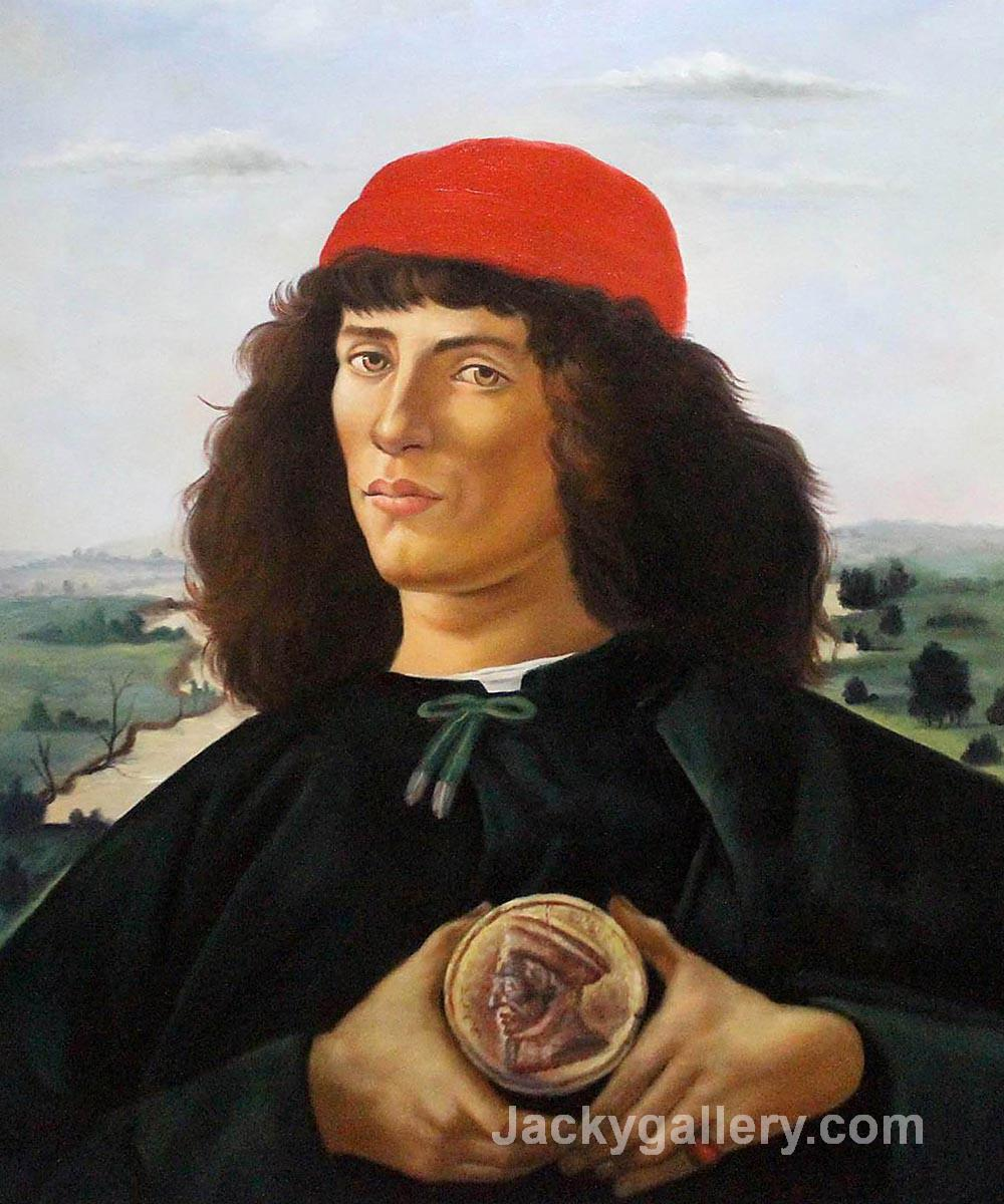 Portrait of a Man with the Medal of Cosimo by Sandro Botticelli paintings reproduction