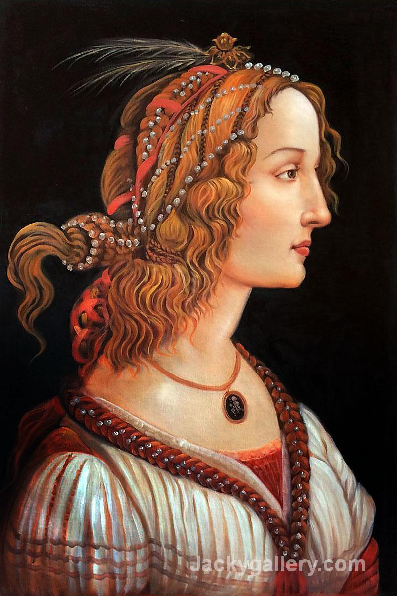 Portrait of a young woman by Sandro Botticelli paintings reproduction