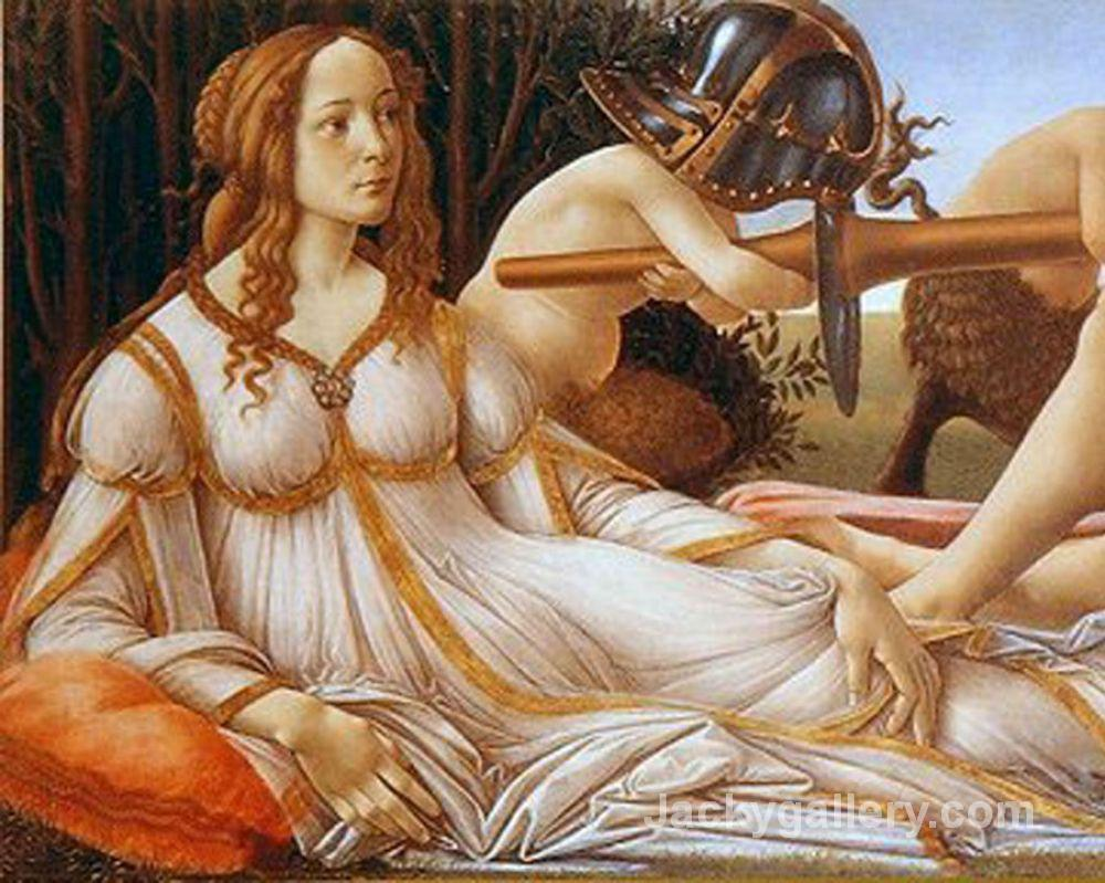 Venus and Mars (left) by Sandro Botticelli paintings reproduction