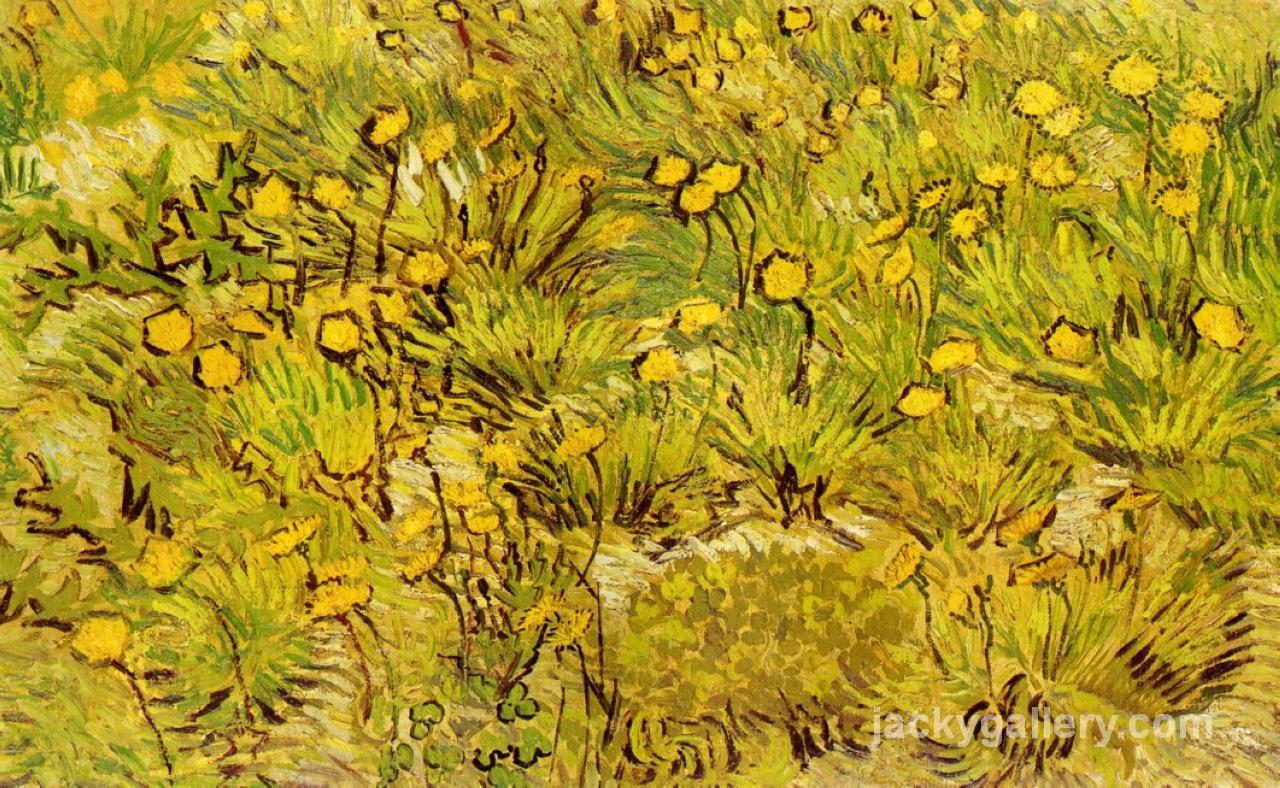 A Field of Yellow Flowers, Van Gogh painting