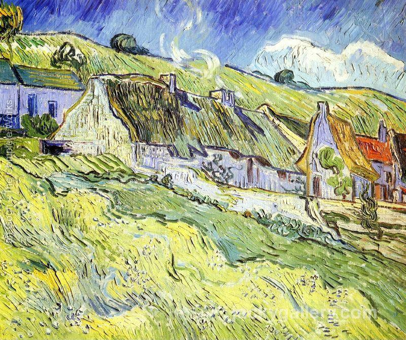 A Group of Cottages, Van Gogh painting