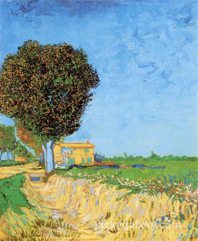 A Lane near Arles, Van Gogh painting