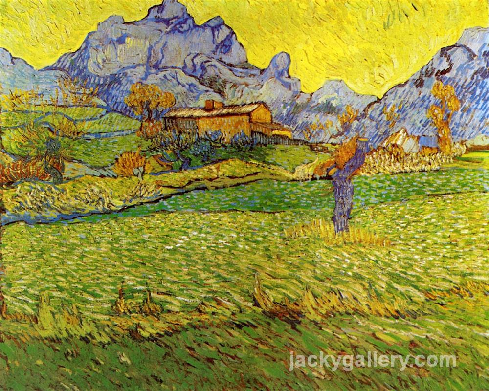 A Meadow in the Mountains, Van Gogh painting