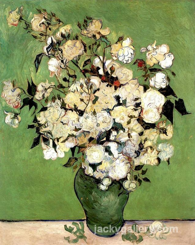 A Vase of Roses, Van Gogh painting