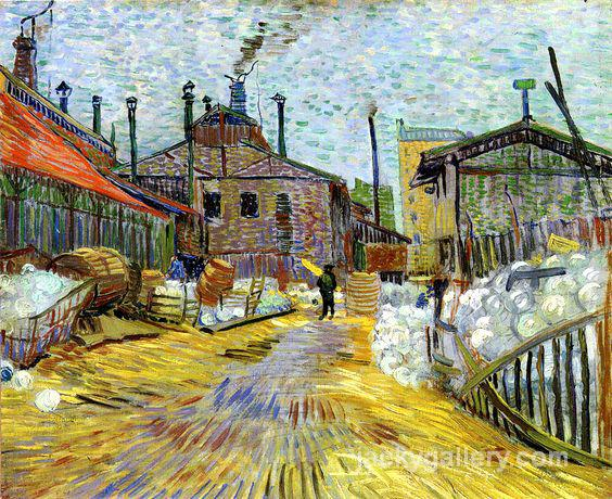 A factory at Asnieres, Van Gogh painting