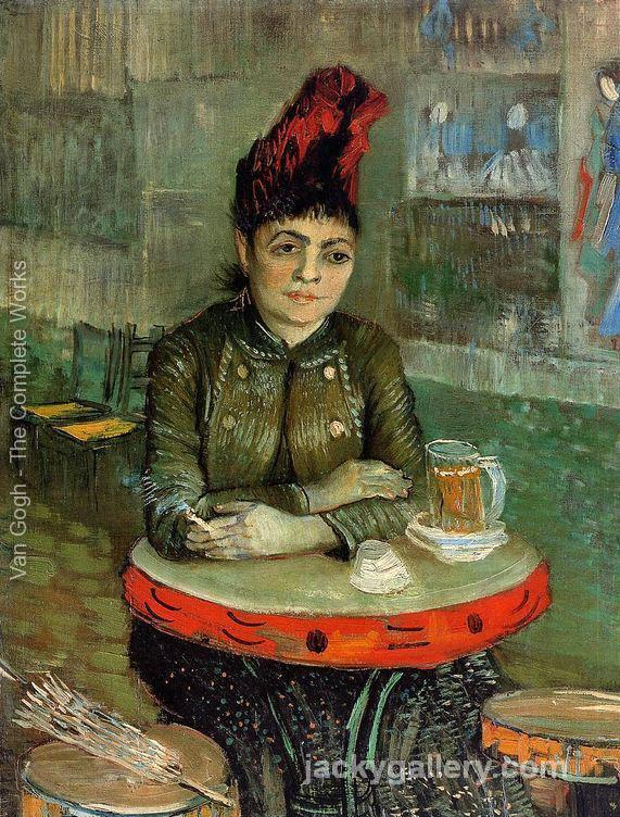 Agostina Segatori Sitting In The Cafe Du Tambourin, Van Gogh painting