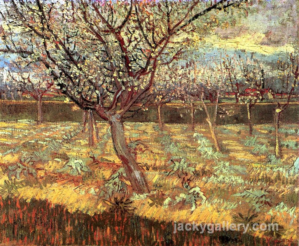 Apricot Trees in Blossom, Van Gogh painting