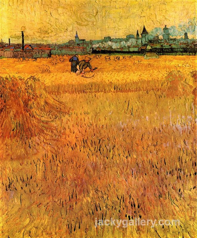 Arles View from the Wheat Fields, Van Gogh painting