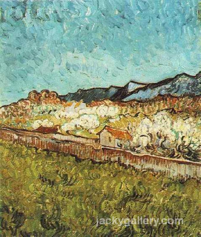 At the Foot of the Mountains, Van Gogh painting