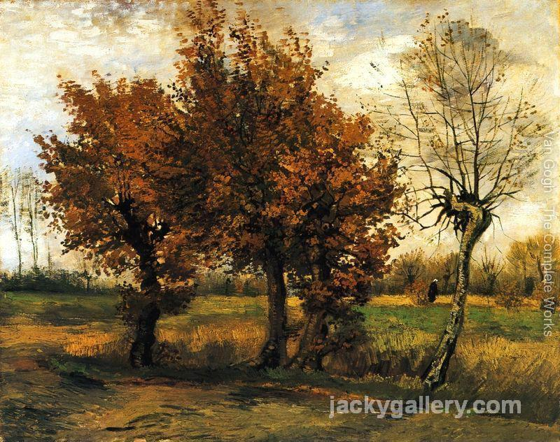 Autumn Landscape with Four Trees, Van Gogh painting