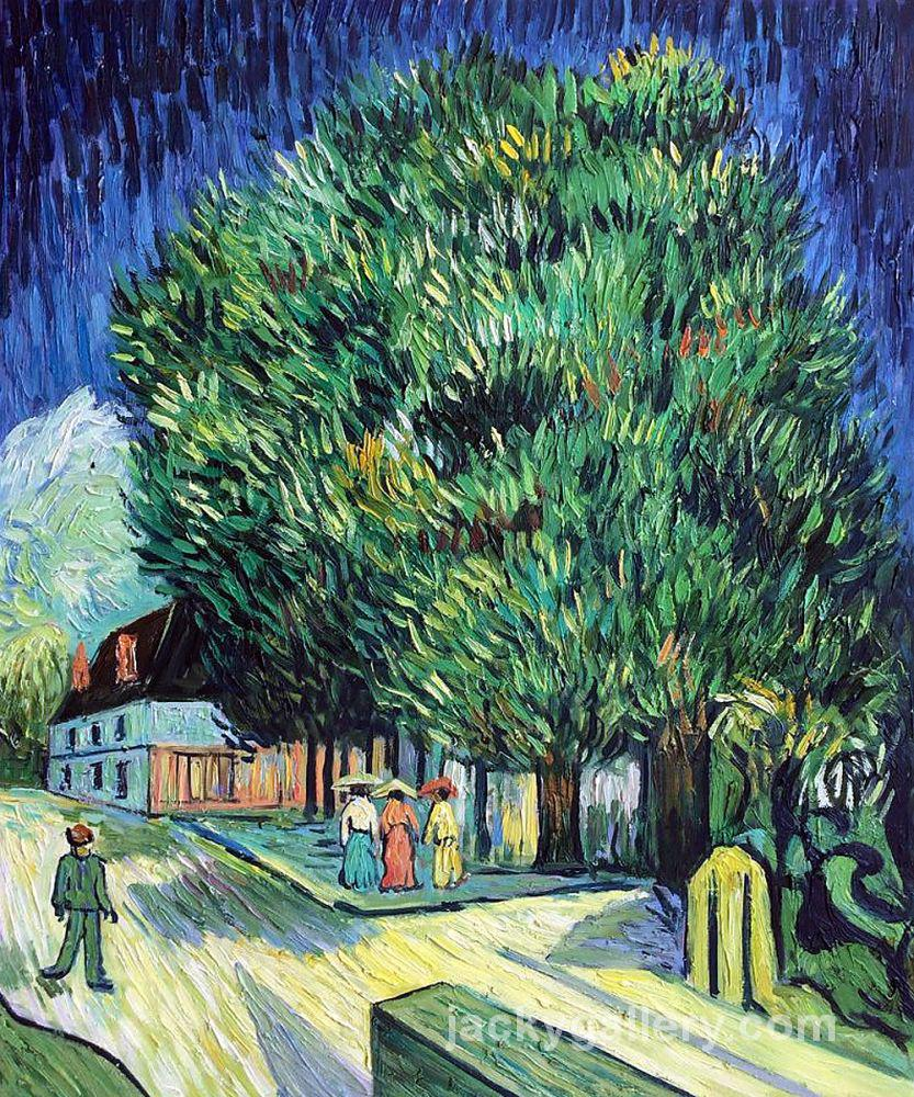 Chestnut Trees in Blossom, Van Gogh painting