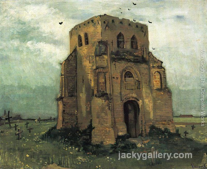 Country Churchyard and Old Church Tower, Van Gogh painting