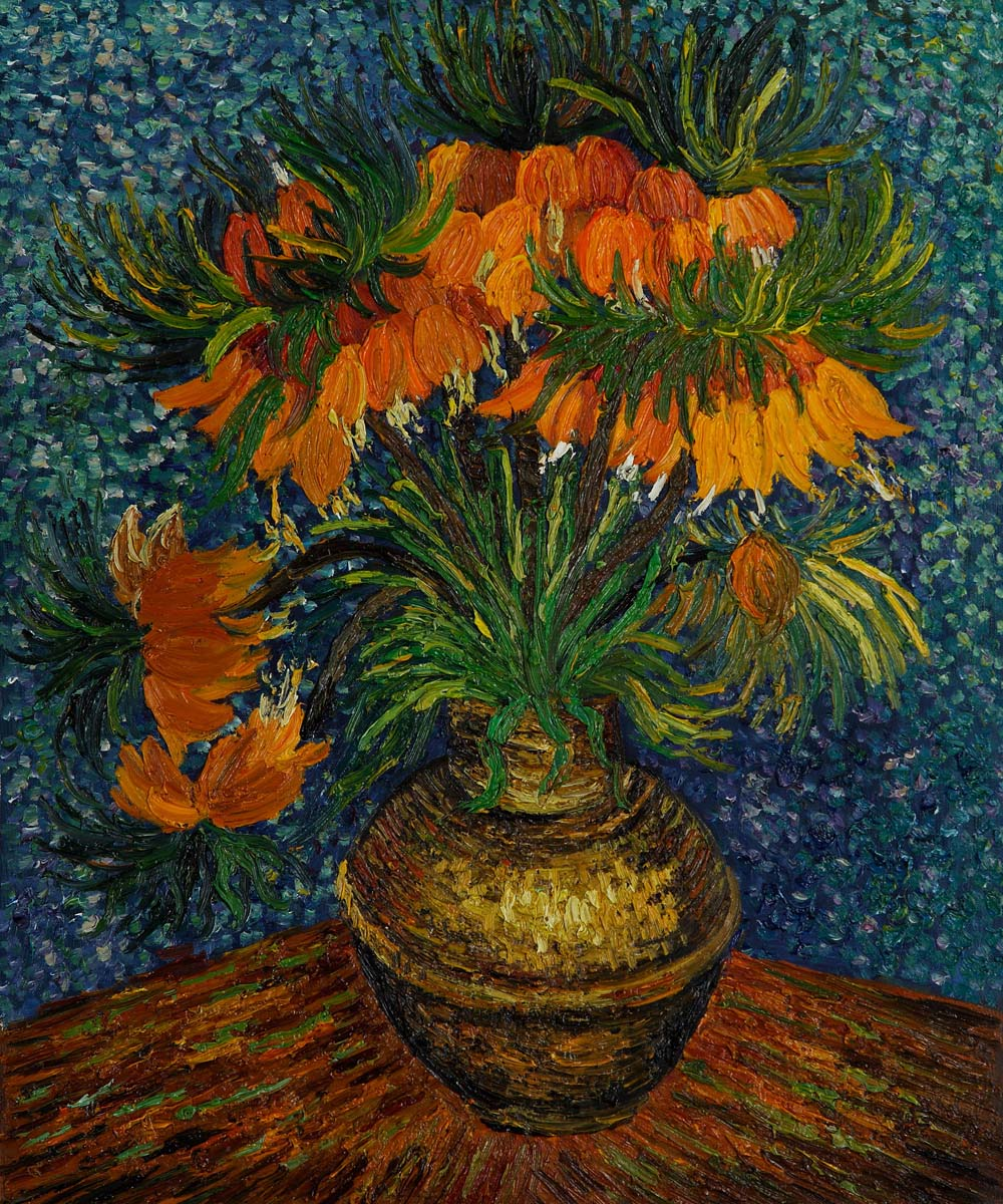 Crown Imperial Fritillaries in a Copper Vase by Vincent Van Gogh