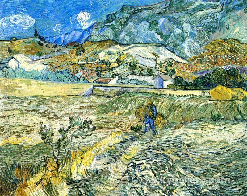 Enclosed Field with Peasant, Van Gogh painting