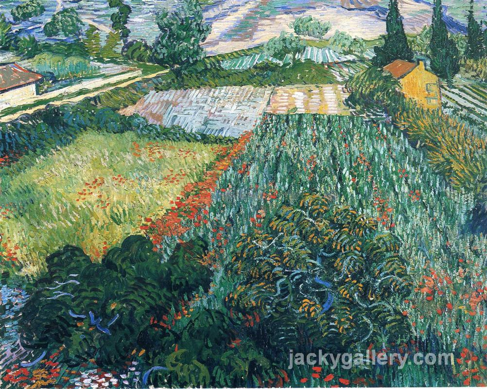Field with Poppies, Van Gogh painting