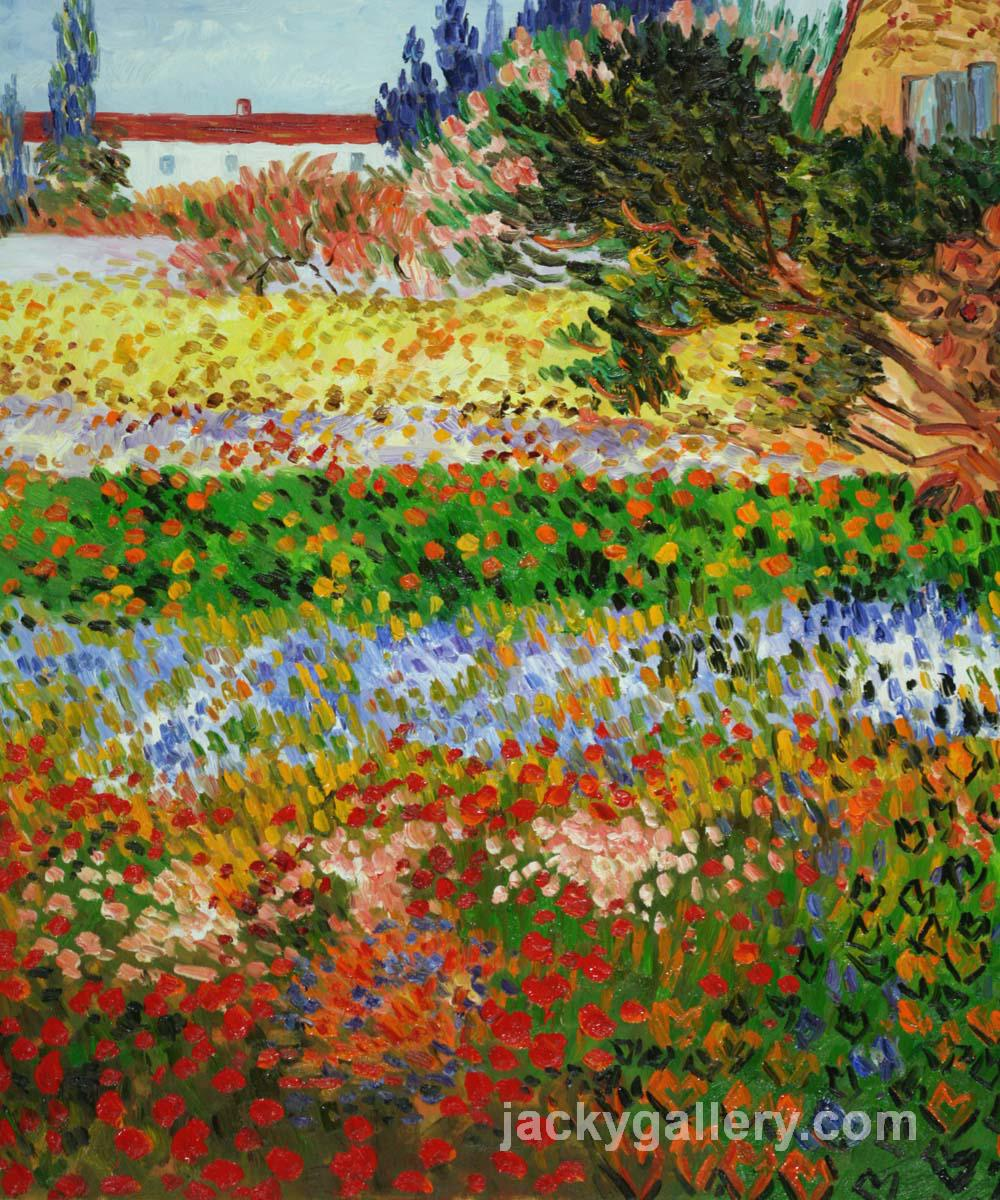 Exceptionnel Flowering Garden With Path, Van Gogh Painting