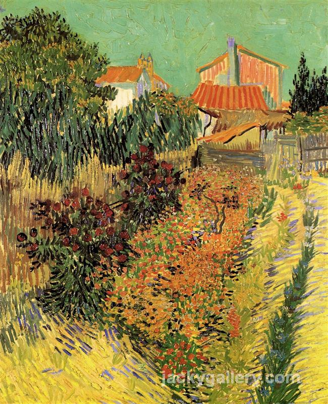 Garden Behind a House, Van Gogh painting