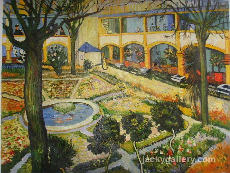Garden Of Hospital In Arles, Van Gogh Painting