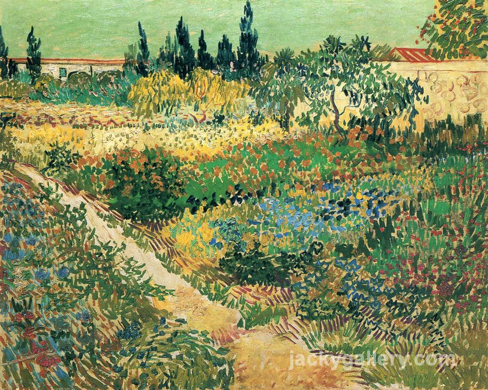 Garden with Flowers, Van Gogh painting