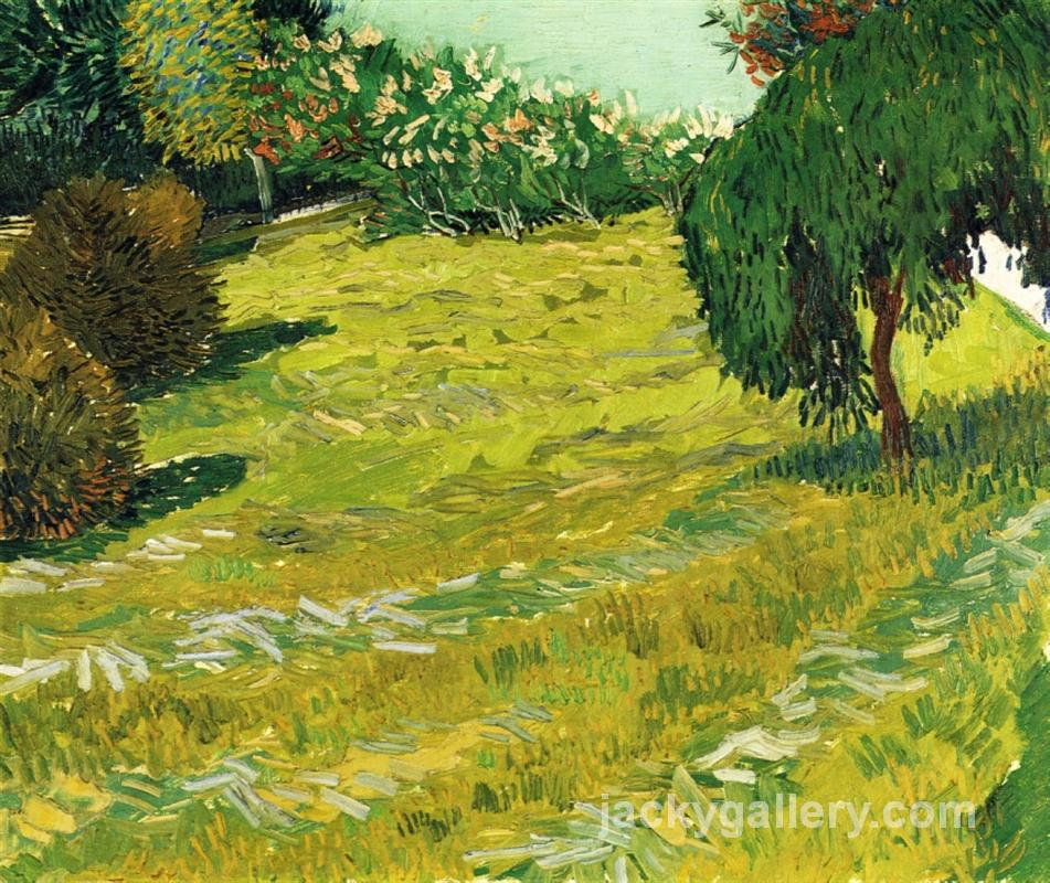 Garden with Weeping Willow, Van Gogh painting