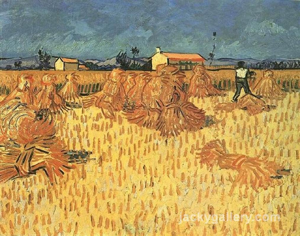 Harvest in Provence, Van Gogh painting