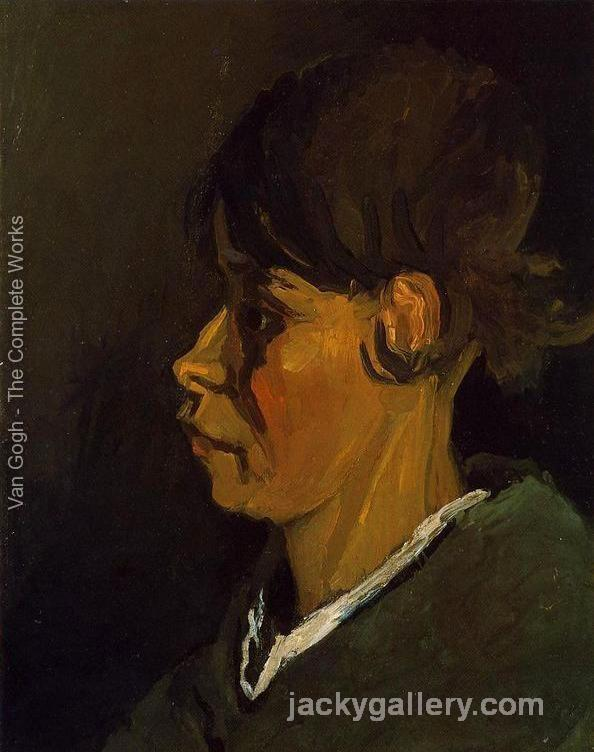 Head of a Peasant Woman, Left Profile, Van Gogh painting