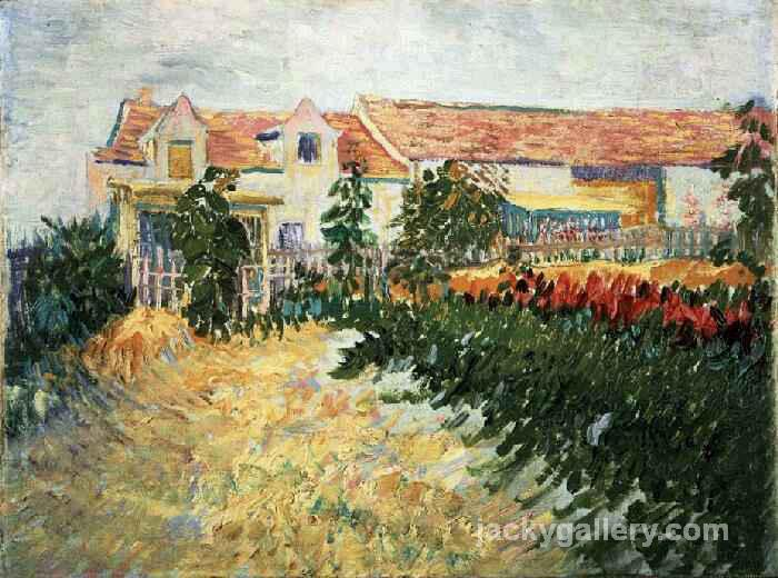 House with sunflowers, Van Gogh painting