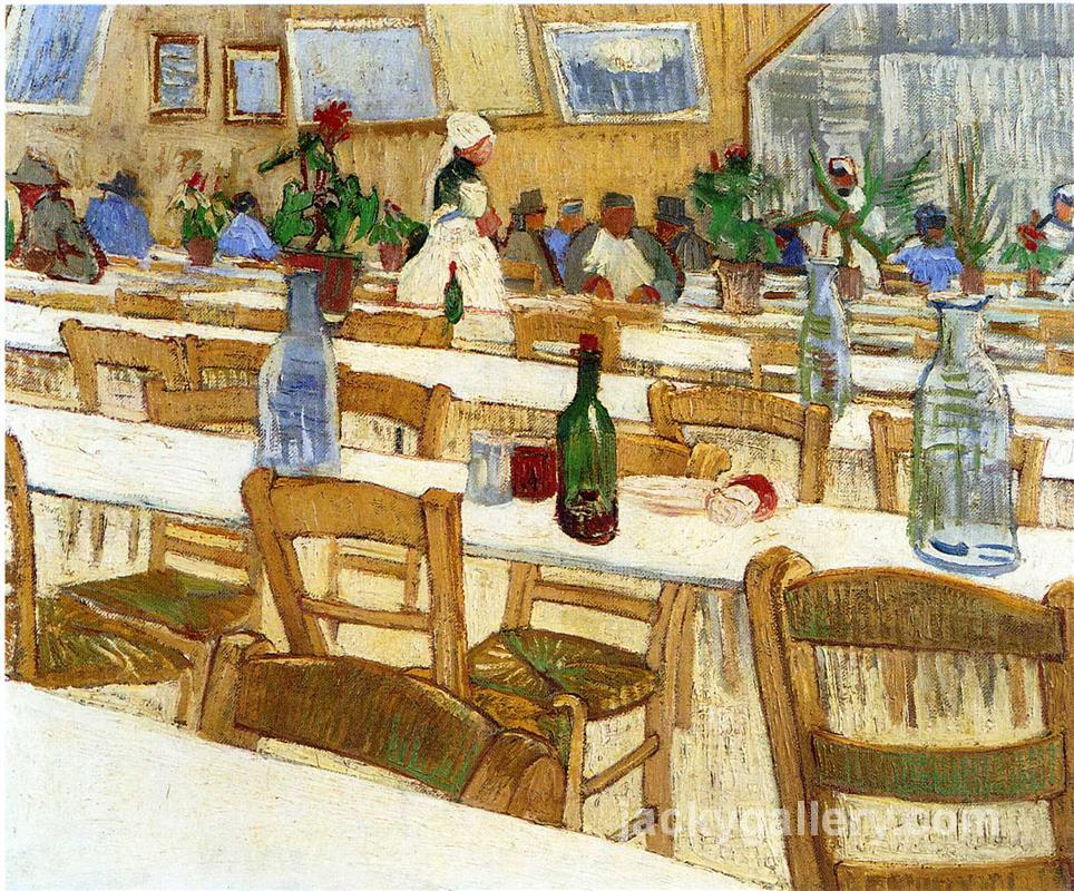 Interior of a Restaurant, Van Gogh painting