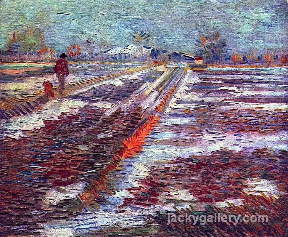 Landscape with Snow, Van Gogh painting