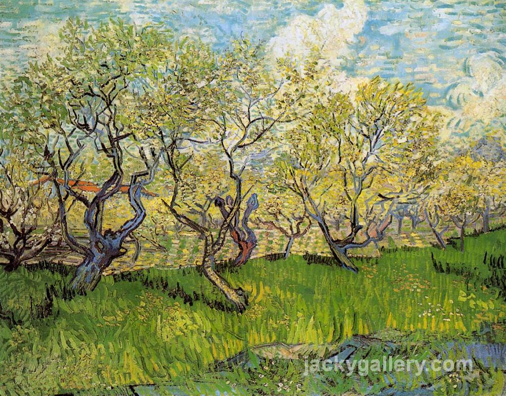 Orchard in Blossom, Van Gogh painting