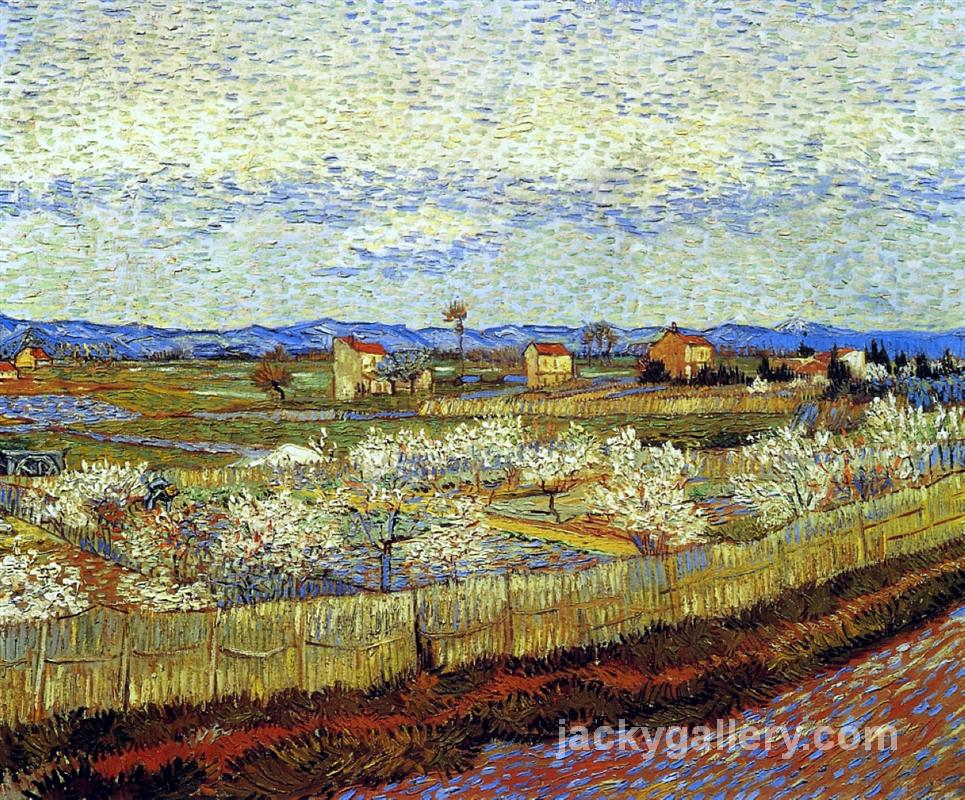 Peach Trees in Blossom, Van Gogh painting