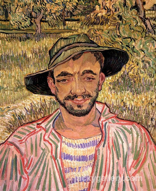 Portrait of a Young Peasant, Van Gogh painting
