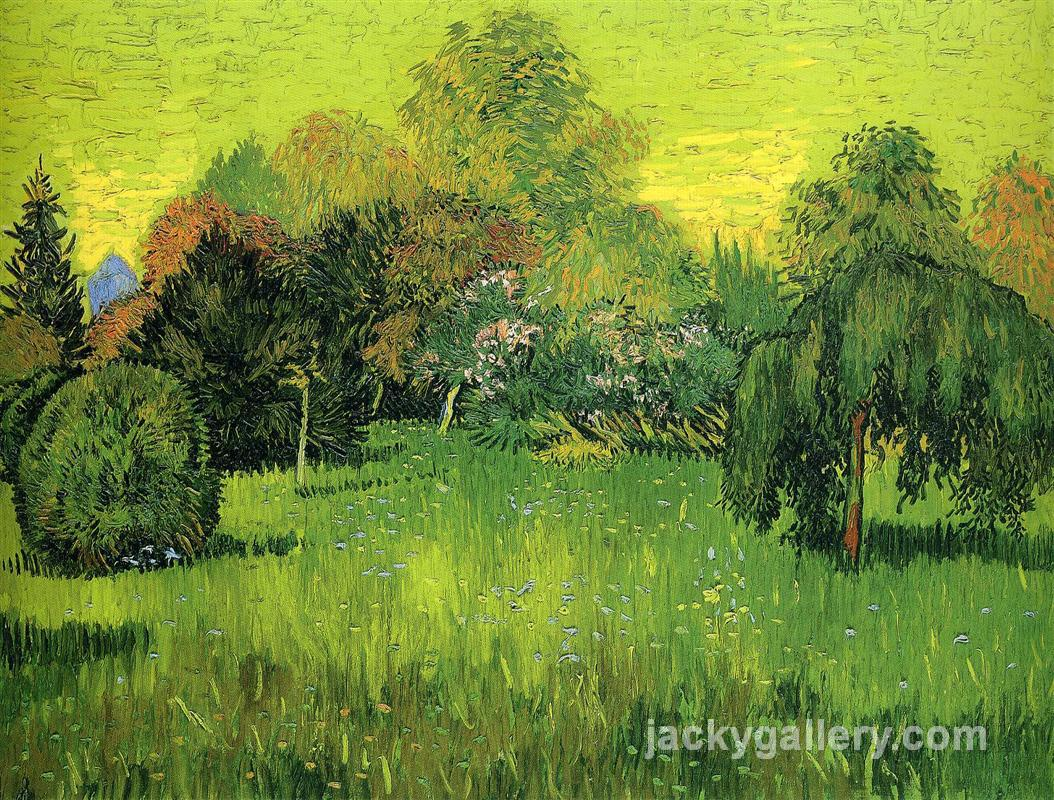 Public Park with Weeping Willow The Poet s Garden I, Van Gogh painting