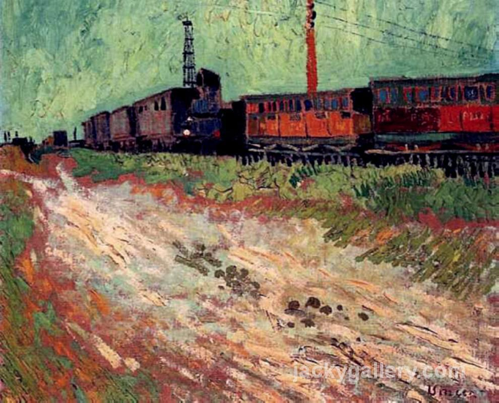 Railway Carriages, Van Gogh painting
