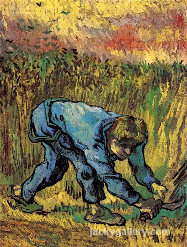 Reaper with Sickle after Millet, Van Gogh painting