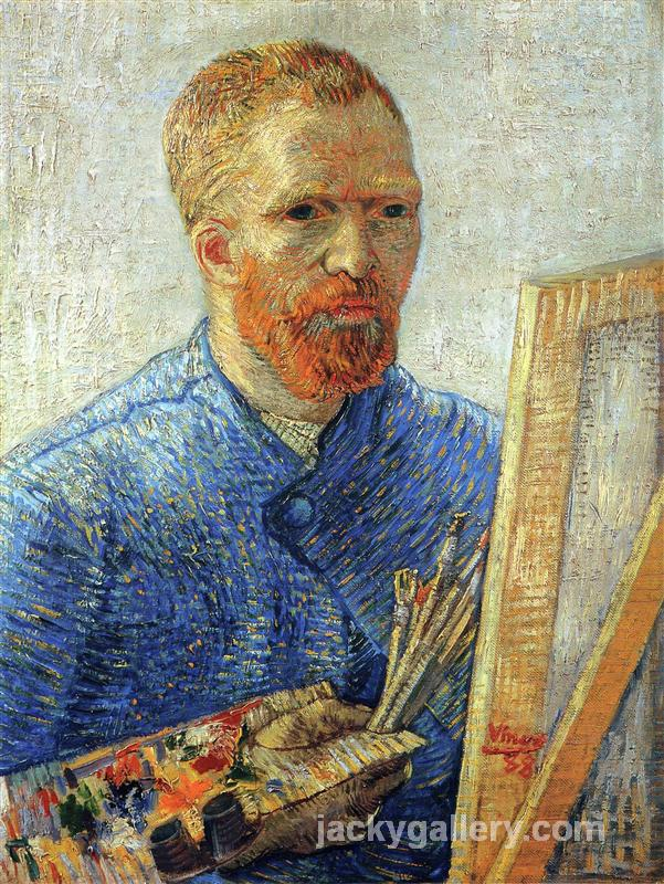 Self Portrait as an Artist, Van Gogh painting