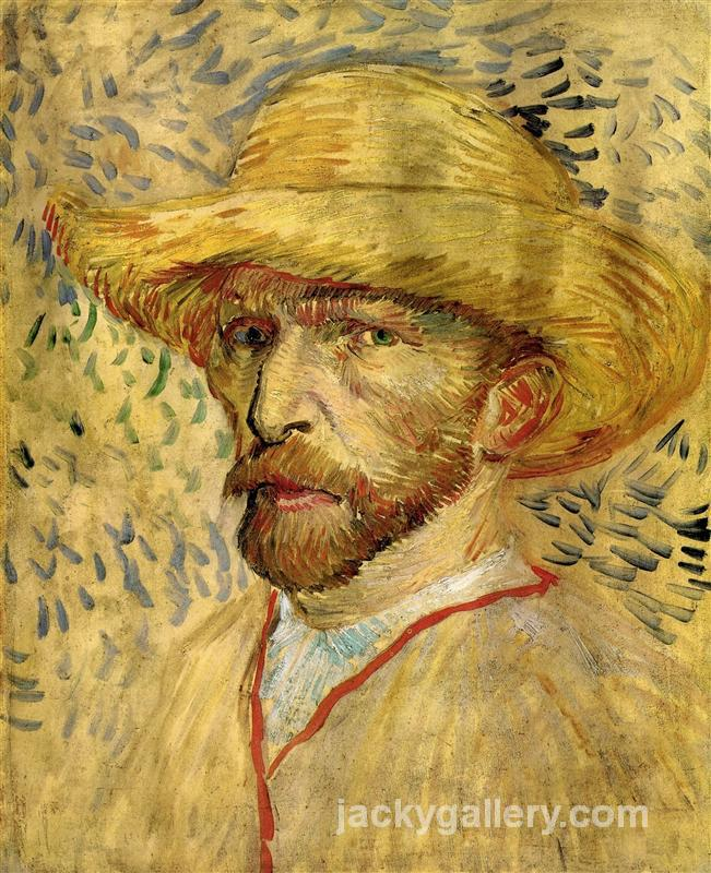 Self-Portrait with Straw Hat III, Van Gogh painting