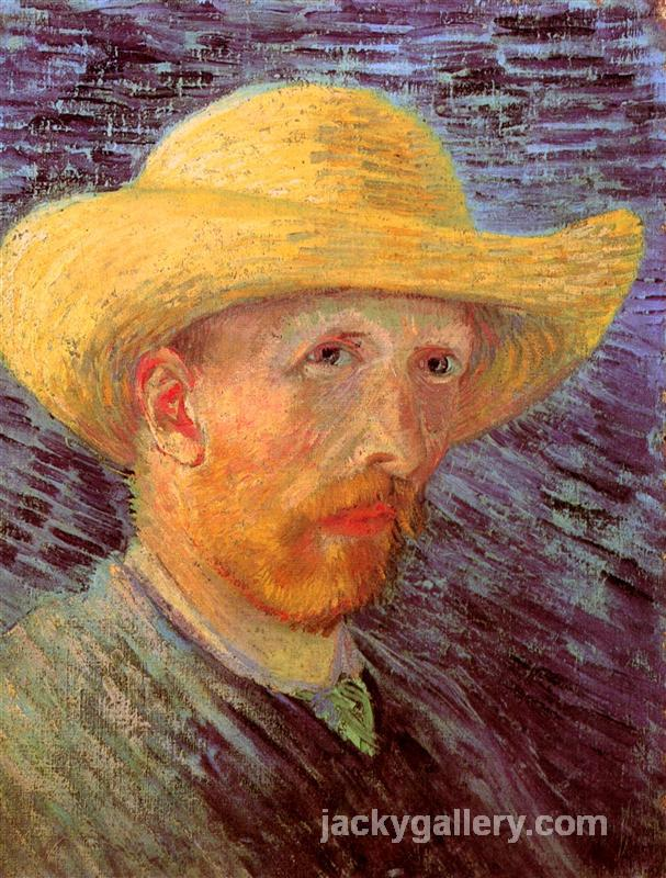 Self-Portrait with Straw Hat II, Van Gogh painting
