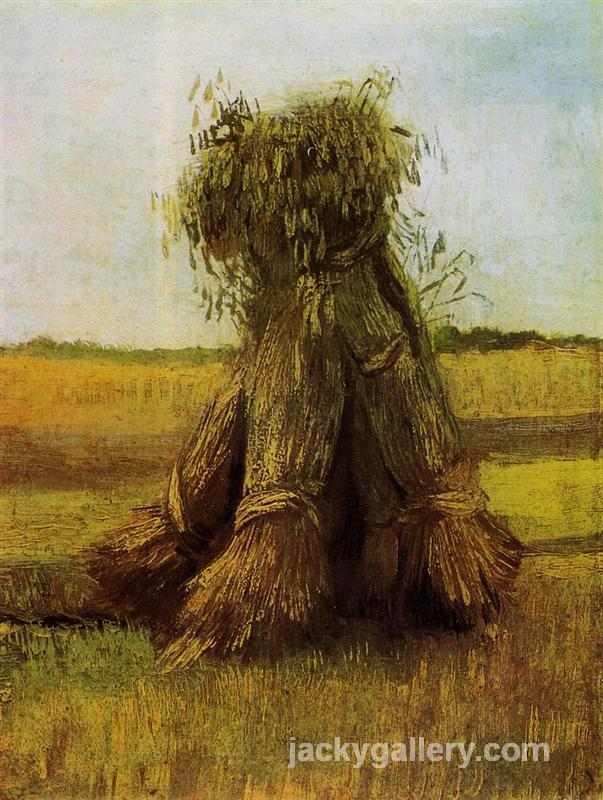 Sheaves of Wheat in a Field, Van Gogh painting