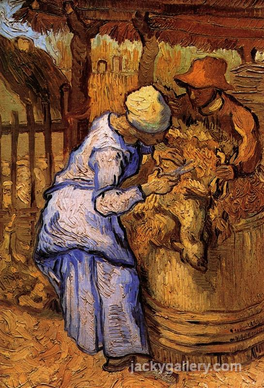 Sheep-Shearers, The after Millet, Van Gogh painting