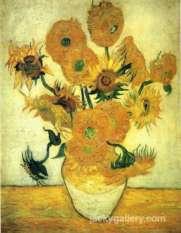 Still Life - Vase with Fourteen Sunflowers, Van Gogh painting