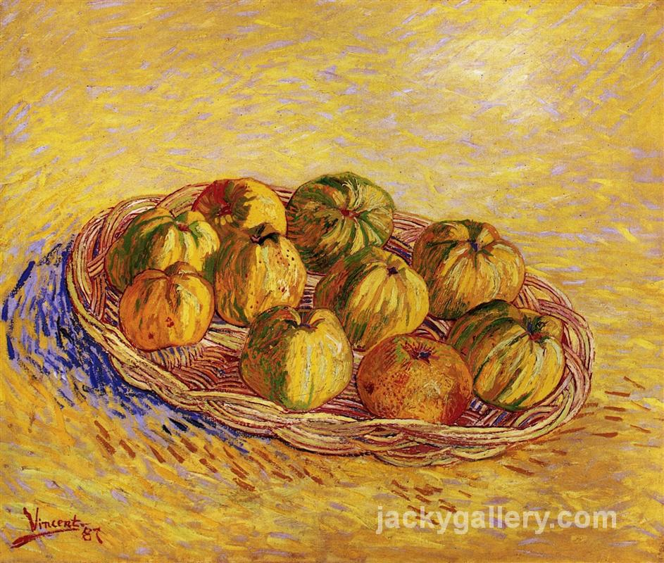 Still Life with Basket of Apples, Van Gogh painting
